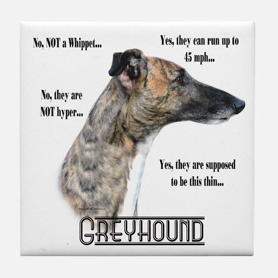 Greyhound FAQ Tile Coaster