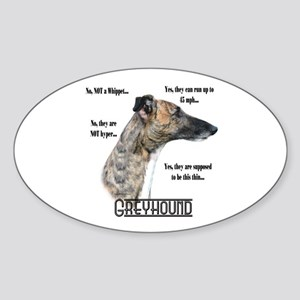 Greyhound FAQ Oval Sticker