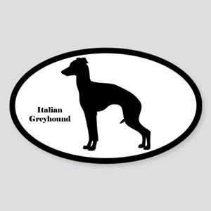 Italian Greyhound Silhouette Sticker