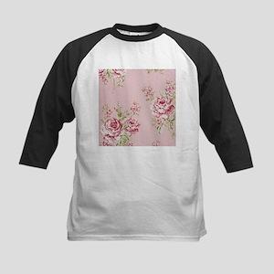 elegant country pink roses vintage Baseball Jersey