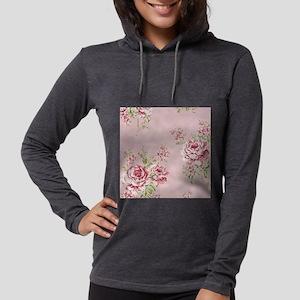 elegant pink roses vintage flo Long Sleeve T-Shirt