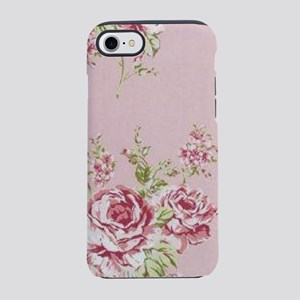 elegant country pink roses v iPhone 8/7 Tough Case