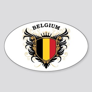Belgium Sticker (Oval)