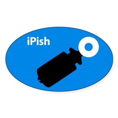 iPish (blue) Oval Decal