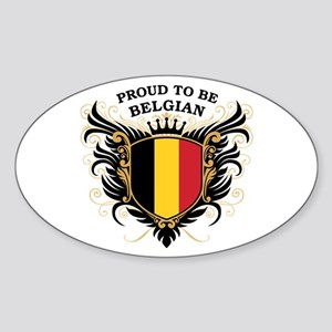 Proud to be Belgian Oval Sticker