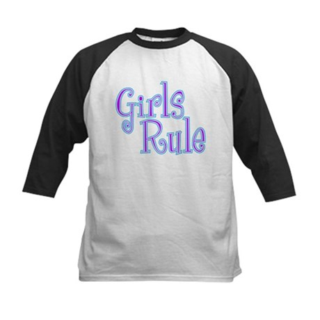 Girls Rule Kids Baseball Jersey