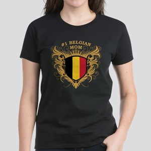 Number One Belgian Mom Women's Dark T-Shirt