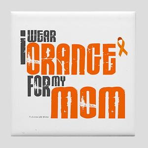 I Wear Orange For My Mom 6 Tile Coaster