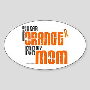 I Wear Orange For My Mom 6 Oval Sticker