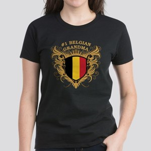 Number One Belgian Grandma Women's Dark T-Shirt