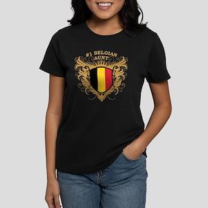 Number One Belgian Aunt Women's Dark T-Shirt