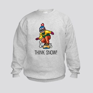 Think Snow Snowboarding Kids Sweatshirt