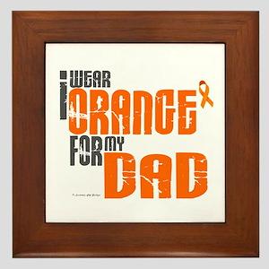 I Wear Orange For My Dad 6 Framed Tile