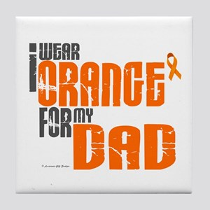 I Wear Orange For My Dad 6 Tile Coaster