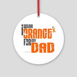 I Wear Orange For My Dad 6 Ornament (Round)
