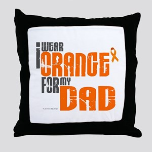I Wear Orange For My Dad 6 Throw Pillow