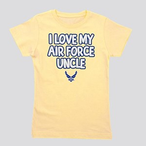 I Love My Air Force Uncle Girl's Tee