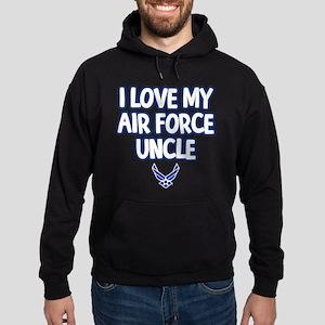 I Love My Air Force Uncle Hoodie (dark)