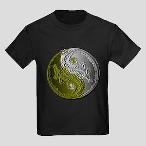 Dragons Yin-Yang Kids Dark T-Shirt