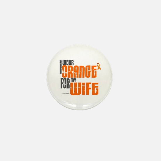 I Wear Orange For My Wife 6 Mini Button (10 pack)