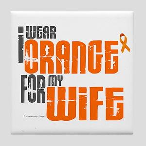 I Wear Orange For My Wife 6 Tile Coaster
