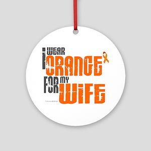 I Wear Orange For My Wife 6 Ornament (Round)