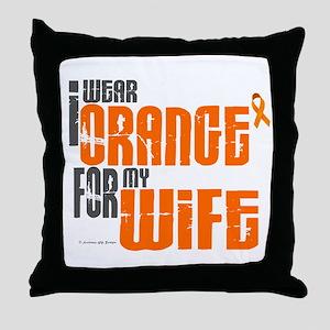 I Wear Orange For My Wife 6 Throw Pillow