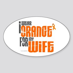 I Wear Orange For My Wife 6 Oval Sticker