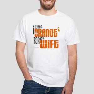 I Wear Orange For My Wife 6 White T-Shirt