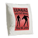 ZOMBIES Burlap Throw Pillow