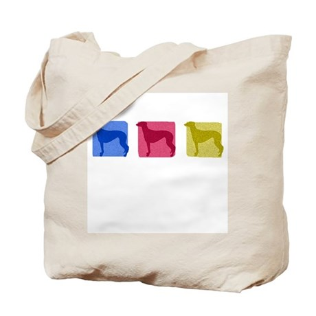 Color Row Greyhound Tote Bag