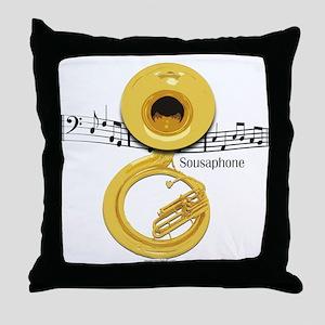 Sousaphone Music Throw Pillow