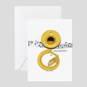 Sousaphone Music Greeting Card