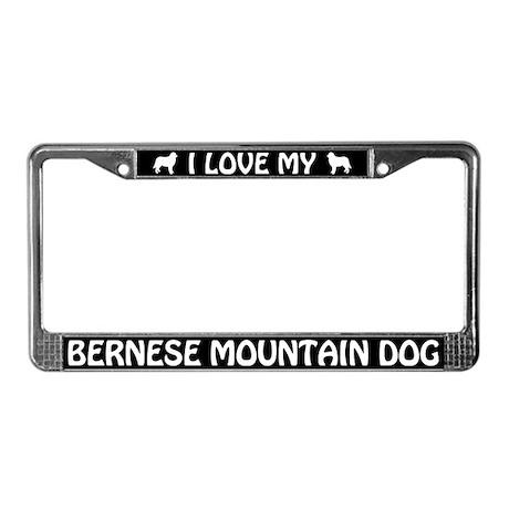 I Love My Bernese Mountain Dog License Plate Frame