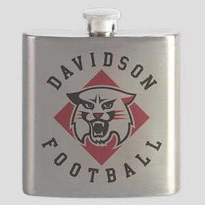 Davidson Football Flask