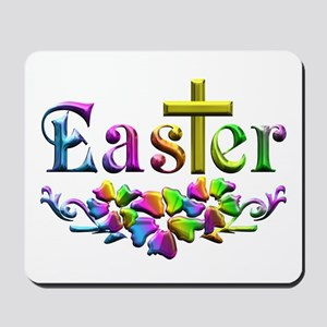Easter Cross and Flowers Mousepad