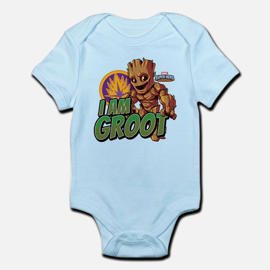 Guardians of the Galaxy I Am G Baby Light Bodysuit