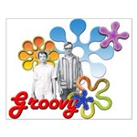 """""""Groovy"""" Retro Graphic Small Poster"""