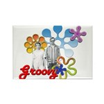 """""""Groovy"""" Retro Graphic Rectangle Magnet (10 pack)"""