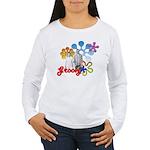 """Groovy"" Retro Graphic Women's Long Sleeve T-Shirt"