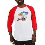 """Groovy"" Retro Graphic Baseball Jersey"