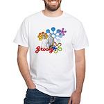"""Groovy"" Retro Graphic White T-Shirt"