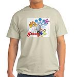 """Groovy"" Retro Graphic Light T-Shirt"