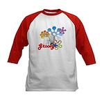 """Groovy"" Retro Graphic Kids Baseball Jer"