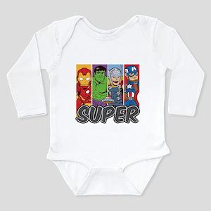 Avengers Super Long Sleeve Infant Bodysuit