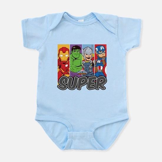 Avengers Super Baby Light Bodysuit