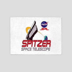 Spitzer Space Telescope 5'x7'Area Rug