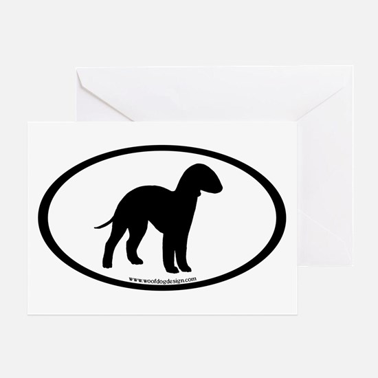 Bedlington Terrier Oval Greeting Card