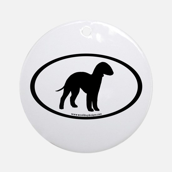 Bedlington Terrier Oval Ornament (Round)