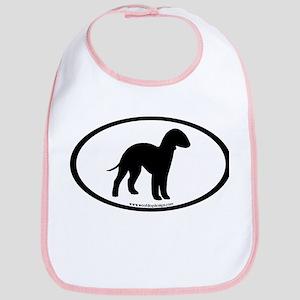 Bedlington Terrier Oval Bib